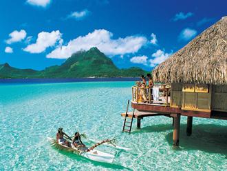 <早割>水上コテージに泊まる ボラボラ島3泊+タヒチ島1泊 6日間