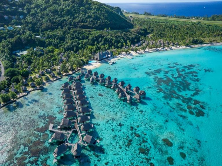★美しい遠浅ラグーン★モーレア島+タヒチ島6日間 ソフィテルモーレア